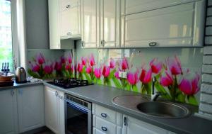 панели стеклянные для кухни фото